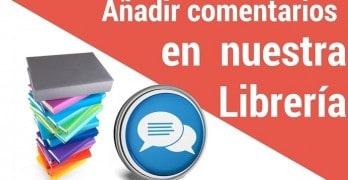 Añadir comentarios en la plantilla AuthorPro en cada libro de nuestra librería