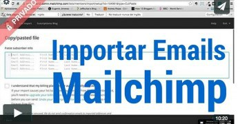 (Premium) Cómo crear una cuenta gratis en Mailchimp, crear una lista e Importar emails a la lista