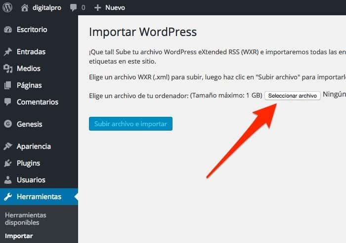 importar-wordpress-digitalpro
