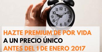 El 1 de Enero subo el precio de la Suscripción de por vida a la Zona Premium