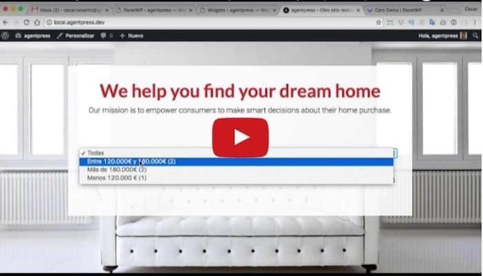 Cómo Mejorar el buscador de la plantilla Agentpress Pro con FacetWP