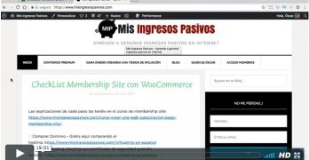 Caso Práctico para crear una Membership Site igual que MisIngresosPasivos.com
