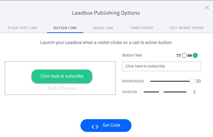 opciones publicar leadbox