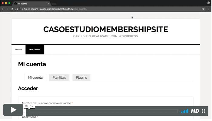 restringir acceso membership