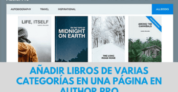 Tutorial Author Pro: Crear listados de libros de diferentes categorías en una misma página