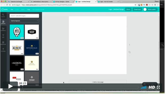 crear logo canva
