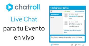 Chatroll: Cómo añadir un live chat en tu evento en vivo
