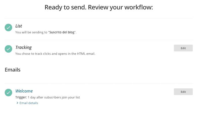 mailchimp workflow