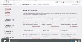myCRED: Uso de los shortcodes mycred_history y mycred_leaderboard