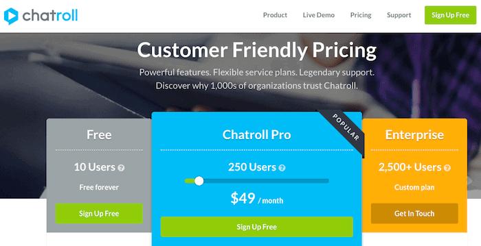 precios chatroll