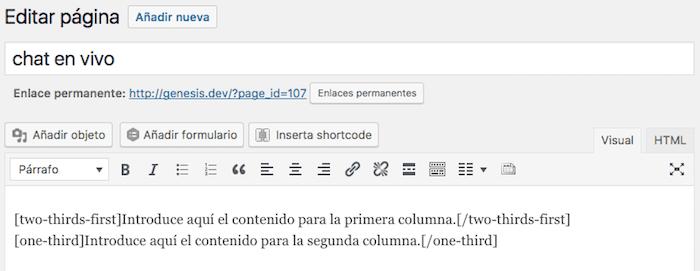 shortcodes genesis columns