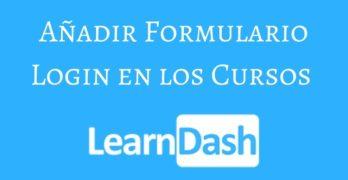 Añadir formulario de Login en los cursos de Learndash