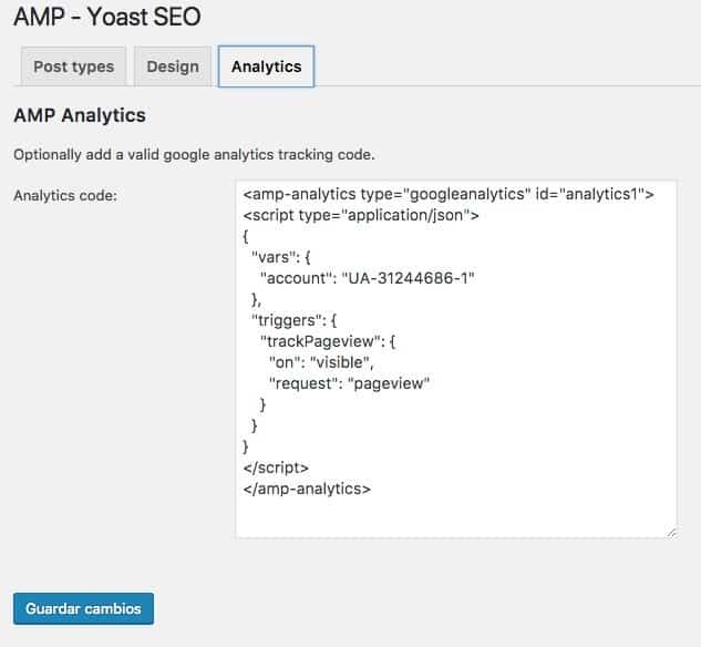 amp yoast seo analytics