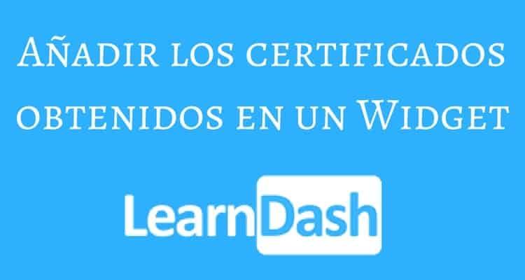 certificados widget learndash
