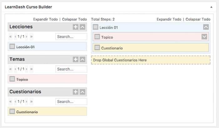 anadir contenido course builder
