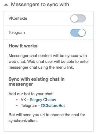 chatbro sincronizar telegram