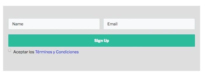formulario checkbox thrive leads