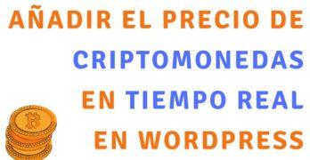 Añade el precio de las Criptomonedas en un Widget en WordPress