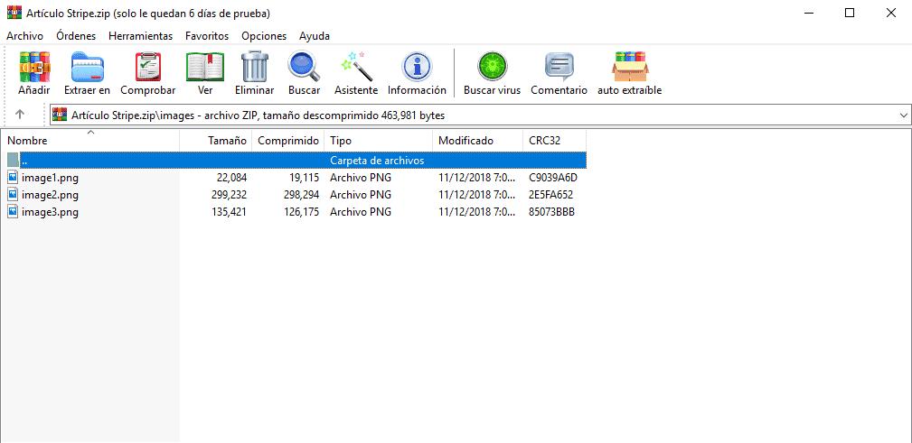 paquete exportado google docs
