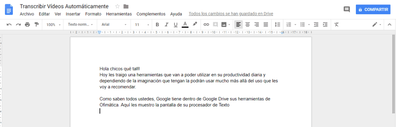 texto google drive