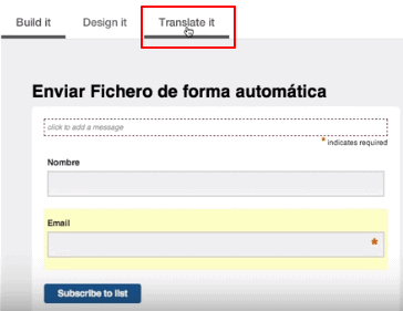 translate it mailchimp