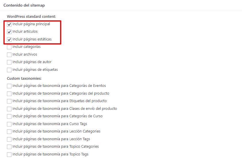 bing contenido sitemap