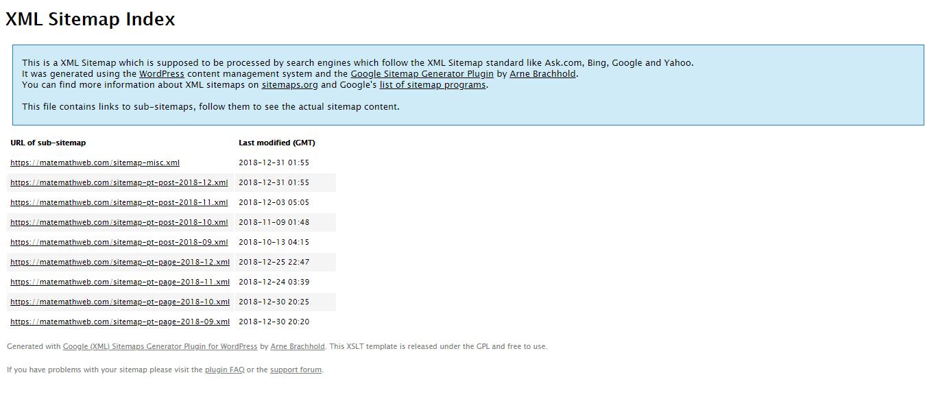 sitemap xml bing