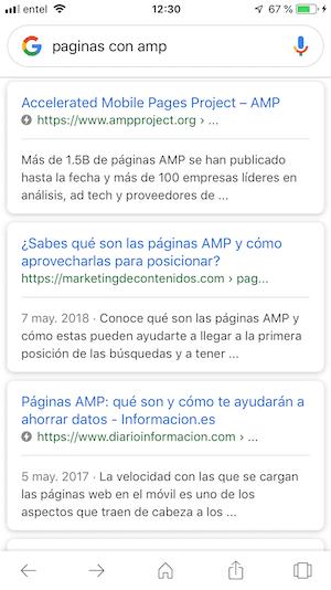 Amp en Google