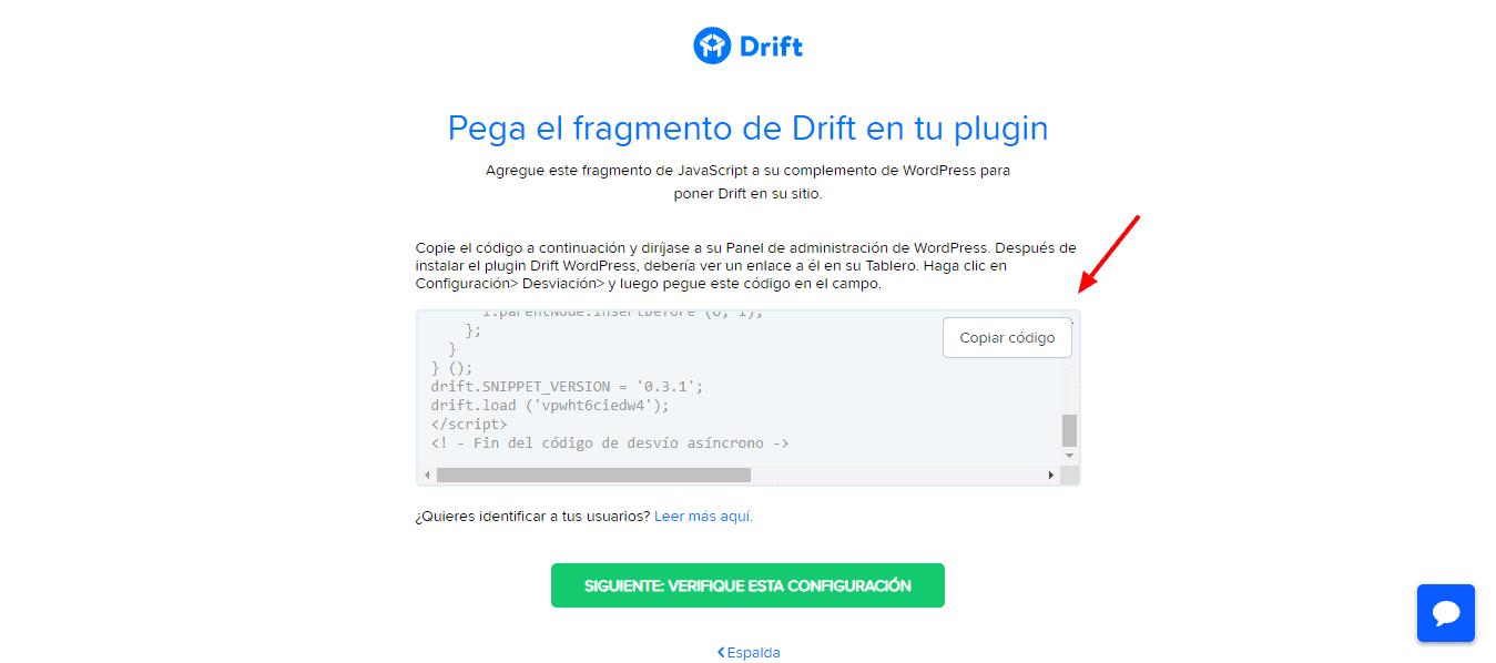 Pegar Código Drift