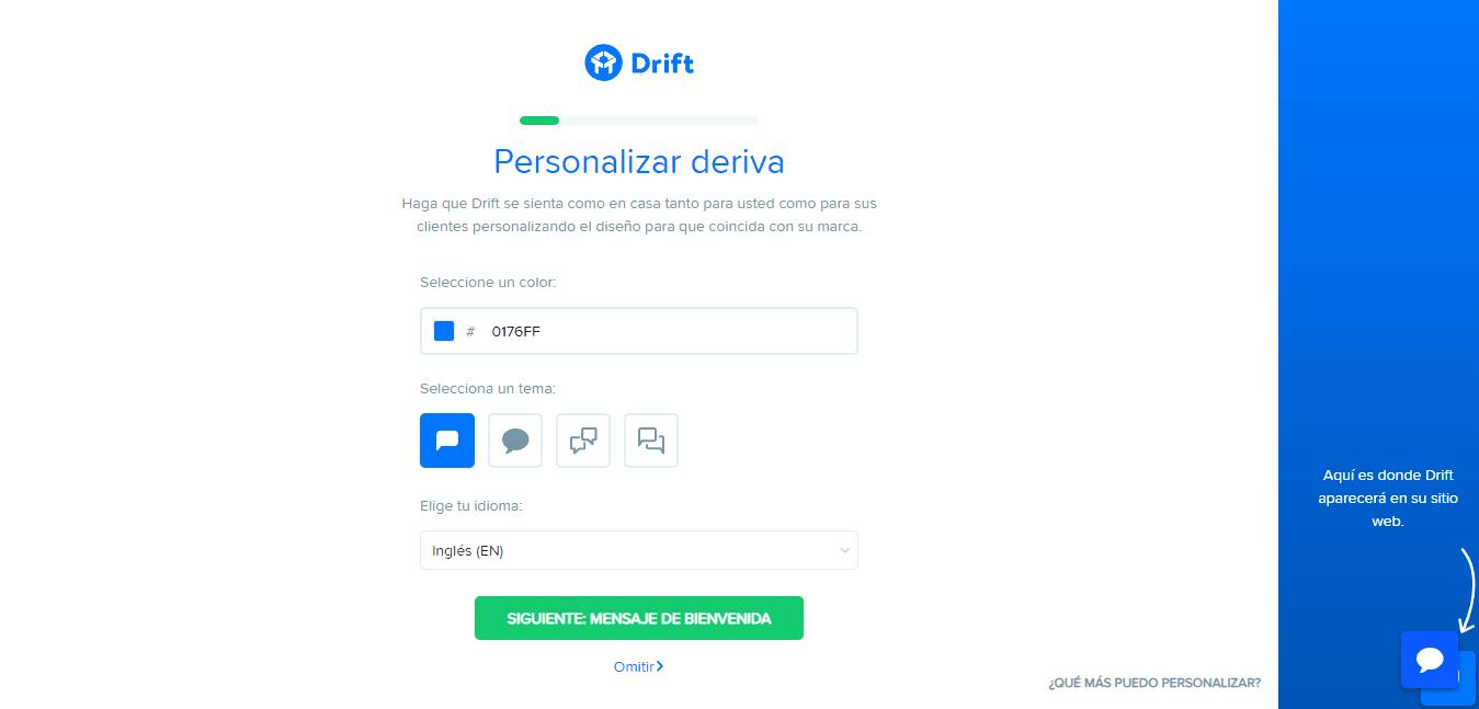 Personalizar Drift