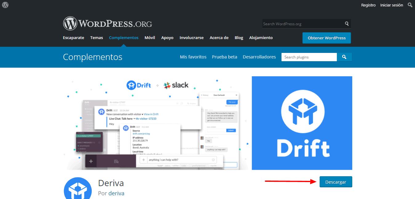 Plugin WordPress Drift