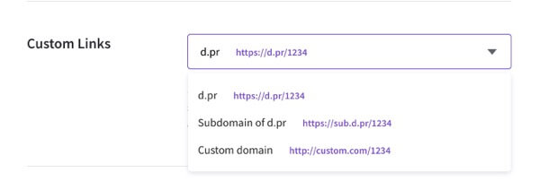 droplr dominio personalizado