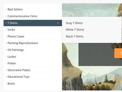 menu categorias