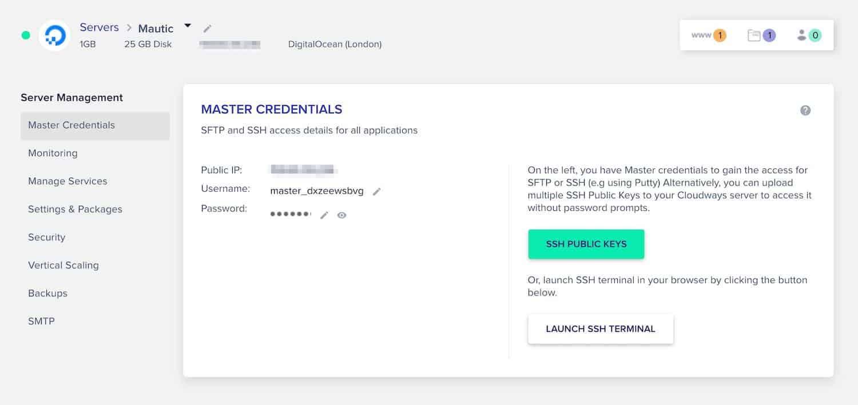 cloudways credenciales