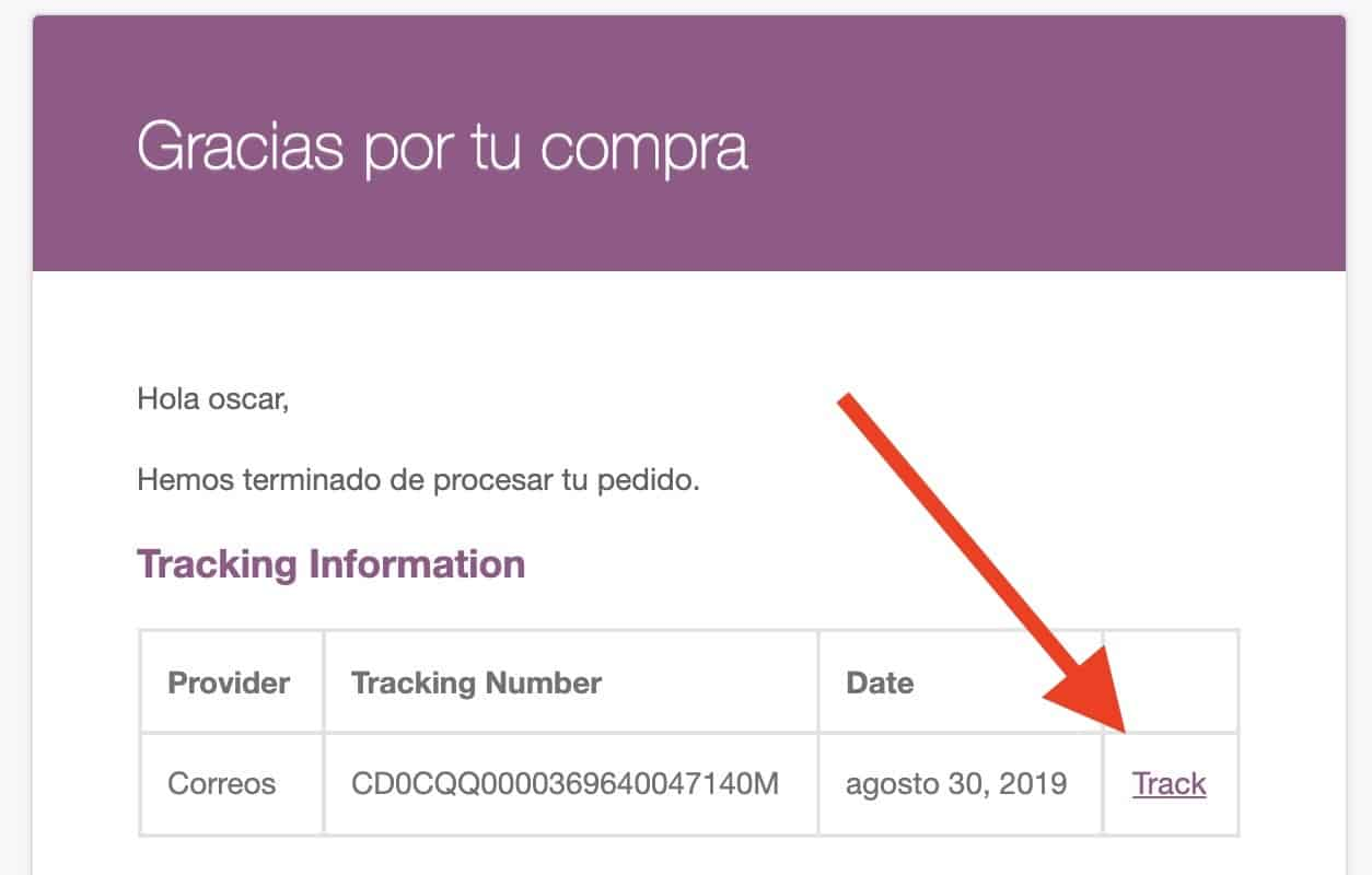 woocommerce email track