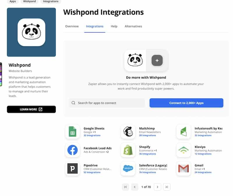 wishpond integrations zapier