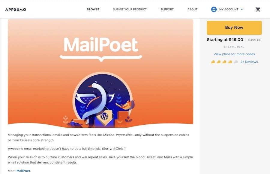 appsumo mailpoet