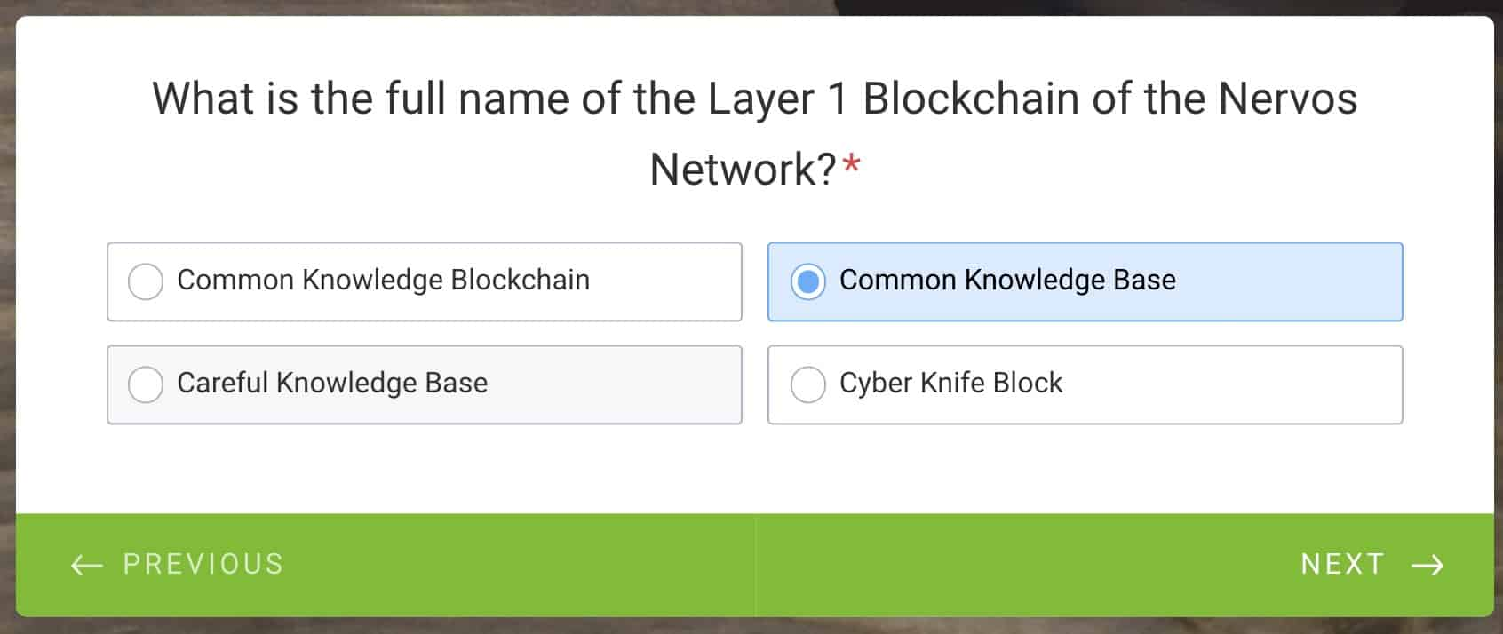 common knowledge base