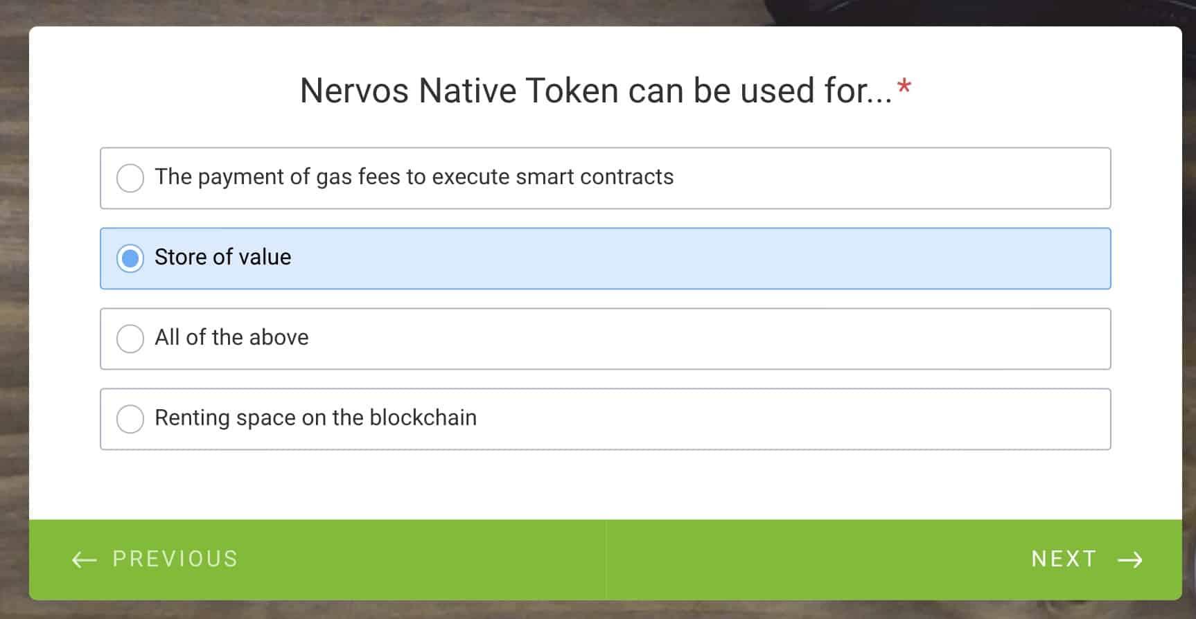 nervos store of value