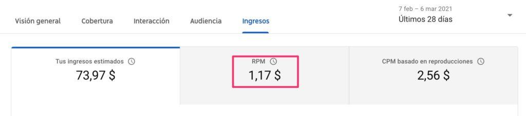 rpm bajo